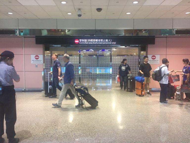 桃園空港からの追跡